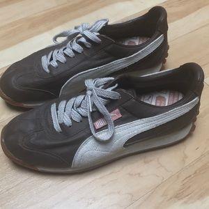 Puma sneakers brown and tan